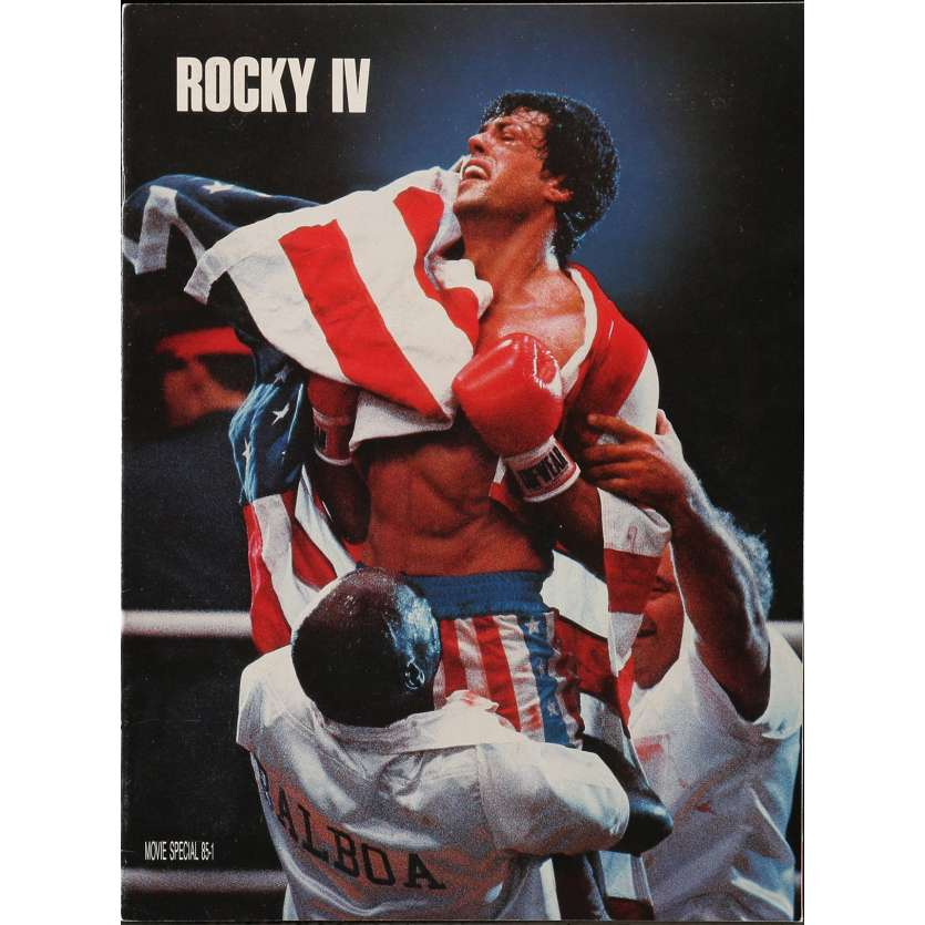 ROCKY 4 Pressbook 9x12 in. - 1985 - Sylvester Stallone, Dolph Lundgren