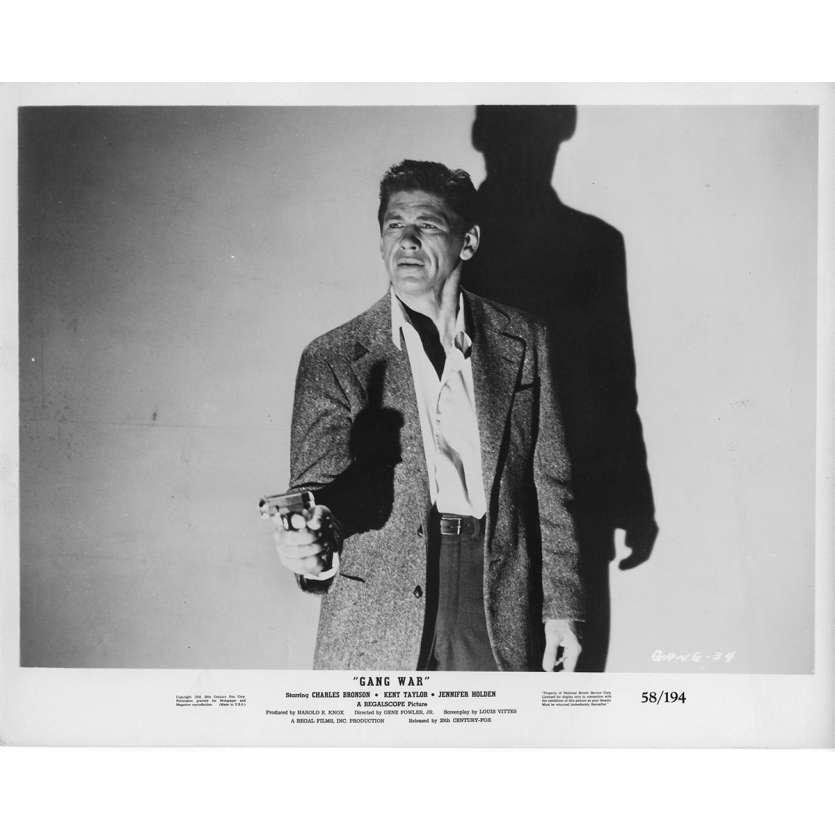 GANG WAR Photos de presse 20x25 cm - 1958 - Charles Bronson, Gene Fowler Jr.