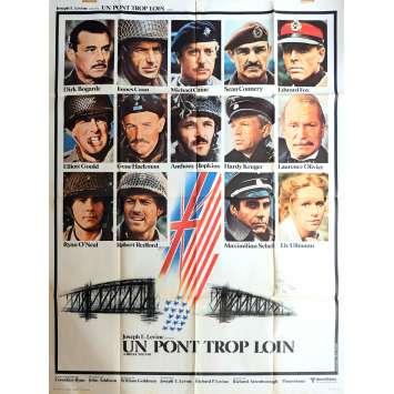 UN PONT TROP LOIN Affiche de film 120x160 cm - 1977 - Sean Connery, Richard Attenborough