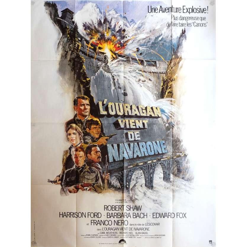 L'OURAGAN VIENT DE NAVARONE Affiche de film 120x160 cm - 1978 - Harrison Ford, Guy Hamilton