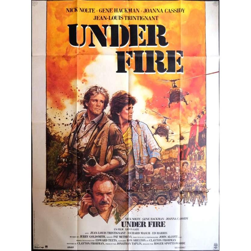 UNDER FIRE Affiche de film 120x160 cm - 1983 - Nick Nolte, Roger Spottiswoode