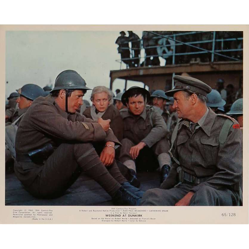 WEEKEND AT DUNKIRK Lobby Card N5 8x10 in. - 1964 - Henri Verneuil, Jean-Paul Belmondo
