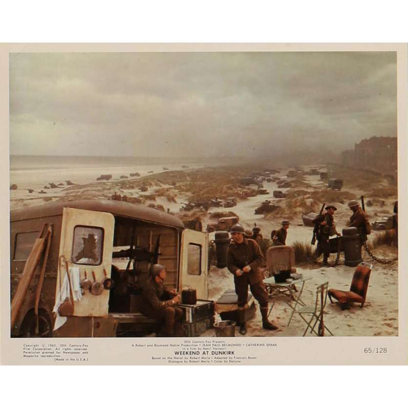 WEEKEND AT DUNKIRK Lobby Card N4 8x10 in. - 1964 - Henri Verneuil, Jean-Paul Belmondo
