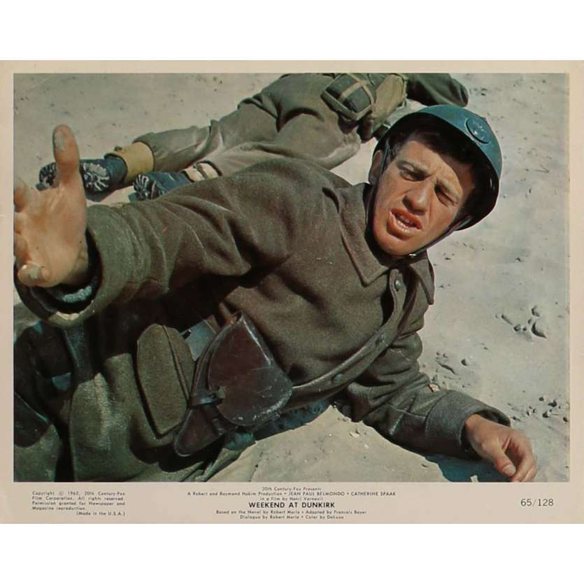 WEEKEND AT DUNKIRK Lobby Card N3 8x10 in. - 1964 - Henri Verneuil, Jean-Paul Belmondo