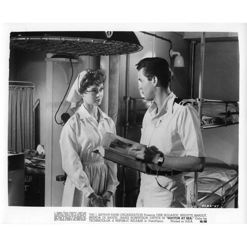 DOCTOR AT SEA Movie Still N5 8x10 in. - 1955 - Ralph Thomas, Brigitte Bardot
