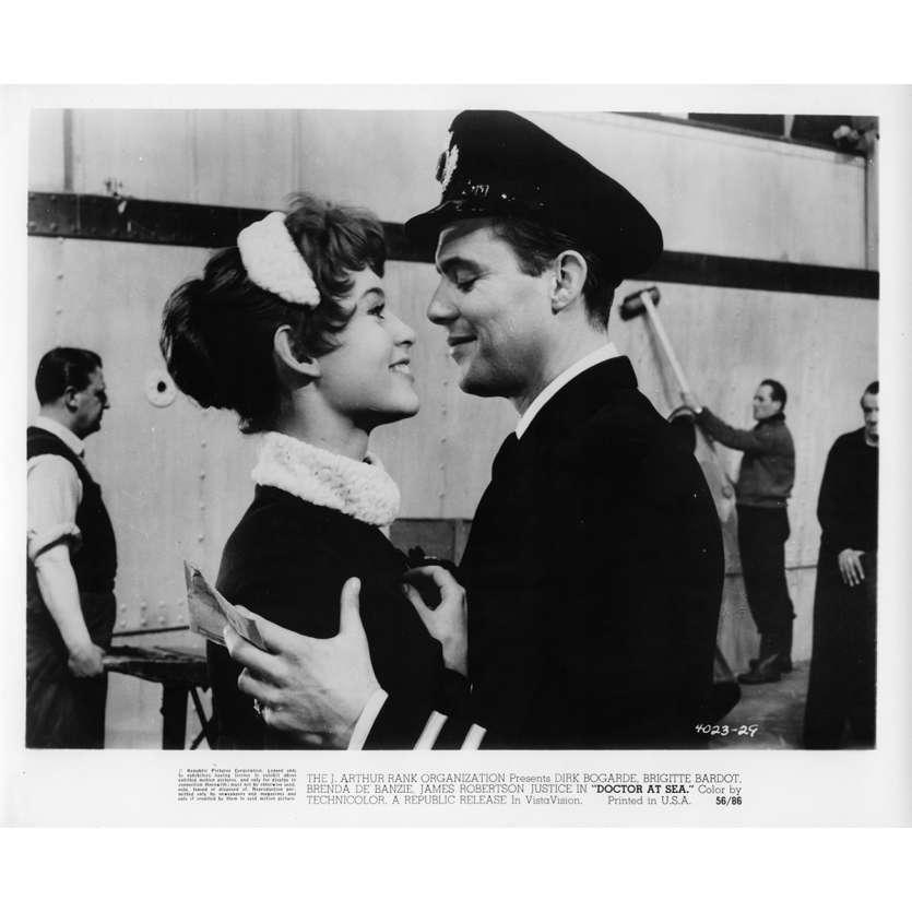 DOCTOR AT SEA Movie Still N4 8x10 in. - 1955 - Ralph Thomas, Brigitte Bardot