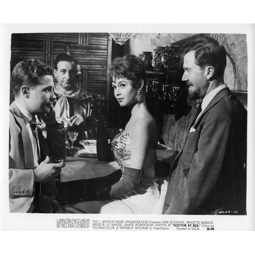 DOCTOR AT SEA Movie Still N3 8x10 in. - 1955 - Ralph Thomas, Brigitte Bardot