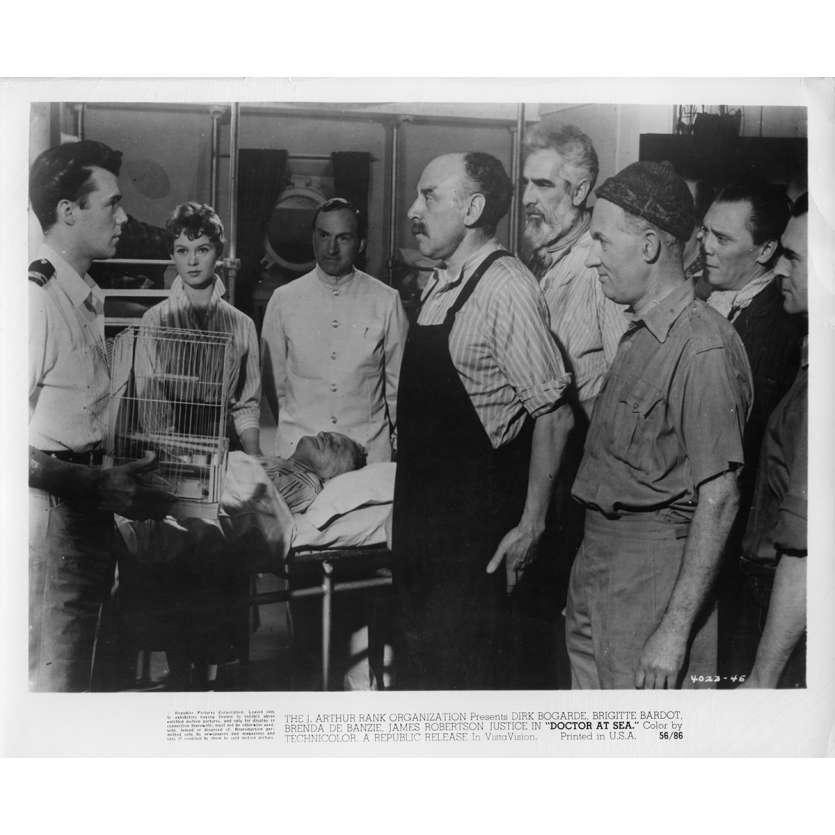 DOCTOR AT SEA Movie Still N1 8x10 in. - 1955 - Ralph Thomas, Brigitte Bardot