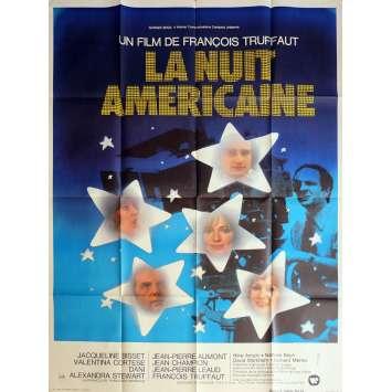 LA NUIT AMERICAINE Affiche de film 120x160 cm - 1973 - Jacqueline Bisset, François Truffaut