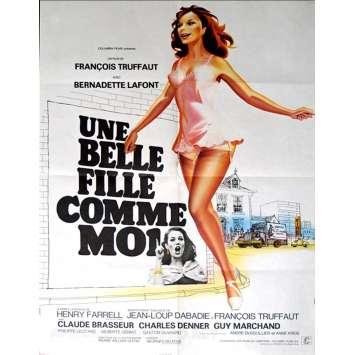 UNE BELLE FILLE COMME MOI Affiche FR '72, François Truffaut Movie Poster