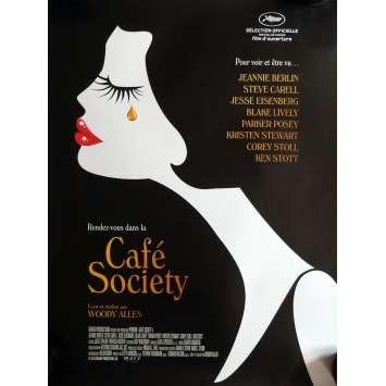 CAFE SOCIETY Movie Poster 15x21 in. - 2016 - Woody Allen, Kristen Stewart