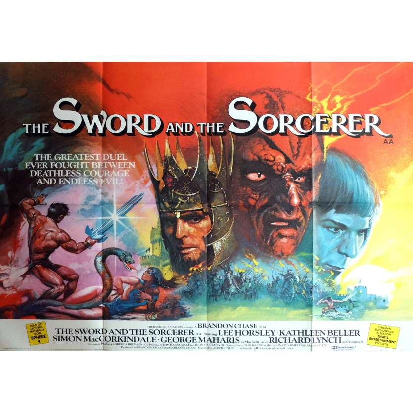 THE SWORD AND THE SORCERER Movie Poster 30x40 in. - 1982 - Albert Pyun, Lee Horsley