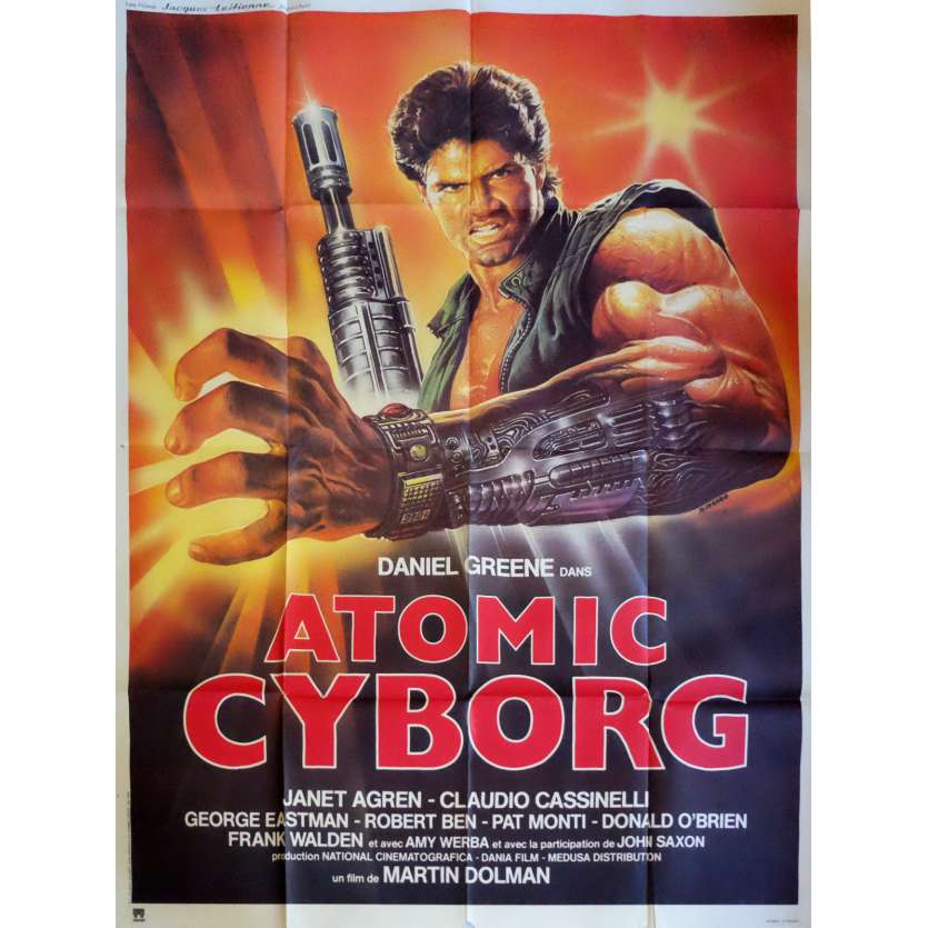 ATOMIC CYBORG Movie Poster 47x63 in. - 1986 - Sergio Martino, Daniel Greene