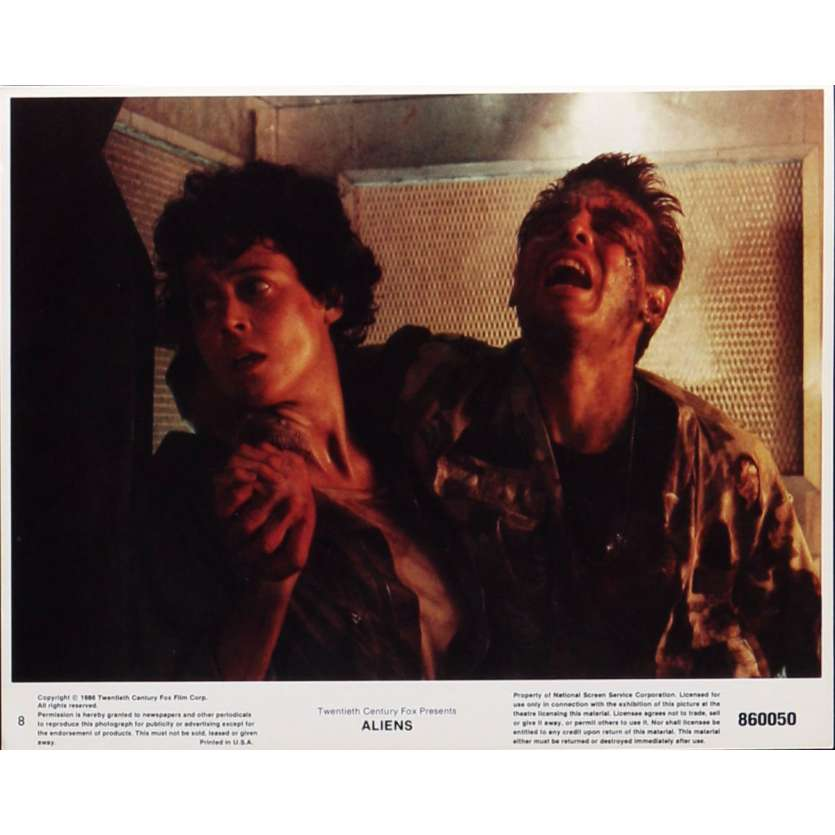 ALIENS Lobby Card N8 8x10 in. - 1986 - James Cameron, Sigourney Weaver