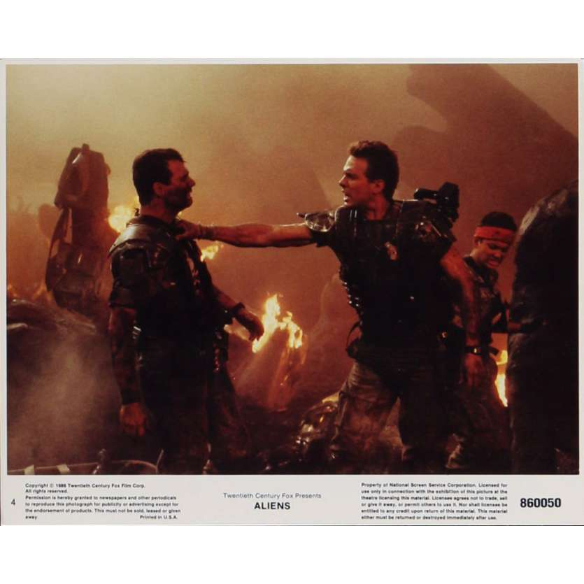 ALIENS Lobby Card N4 8x10 in. - 1986 - James Cameron, Sigourney Weaver