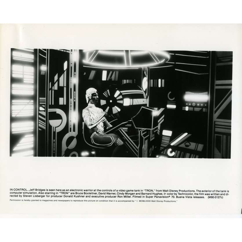 TRON Photo de presse N08 20x25 cm - 1982 - Jeff Bridges, Steven Lisberger