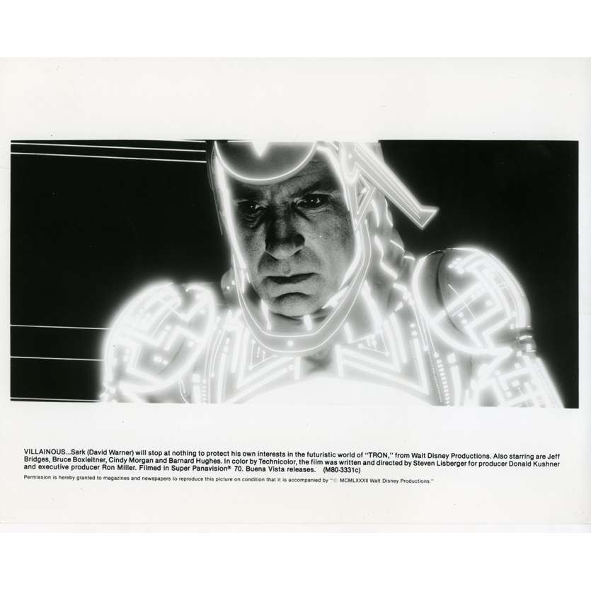 TRON Movie Still N09 8x10 in. - 1982 - Steven Lisberger, Jeff Bridges