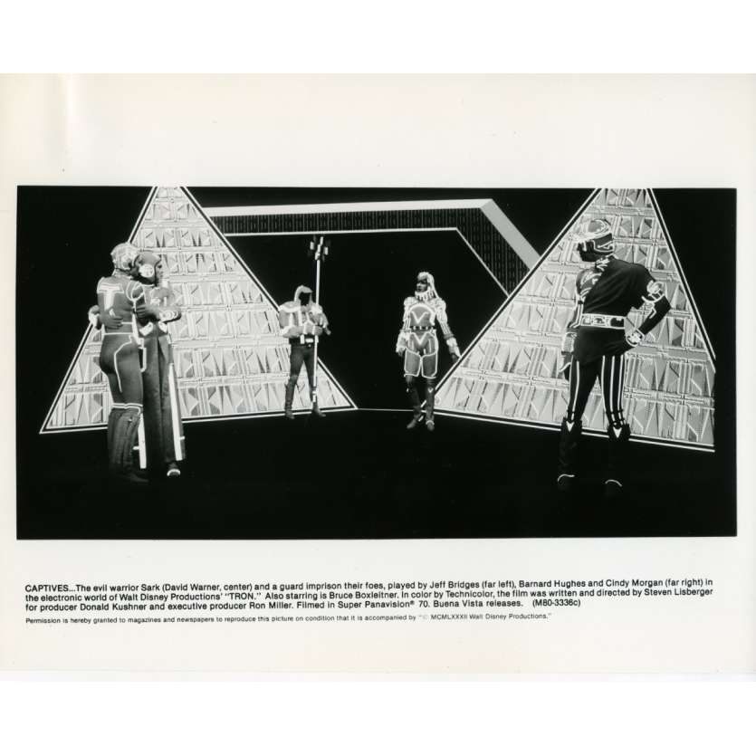 TRON Movie Still N03 8x10 in. - 1982 - Steven Lisberger, Jeff Bridges