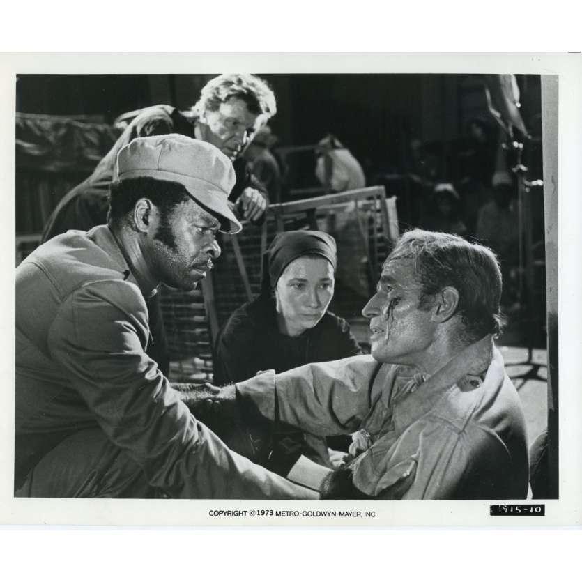 SOLEIL VERT Photo de presse N10 20x25 cm - 1973 - Charlton Heston, Richard Fleisher