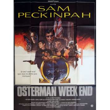OSTERMAN WEEKEND Affiche de film 120x160 cm - 1983 - Rutger Hauer, Sam Peckinpah