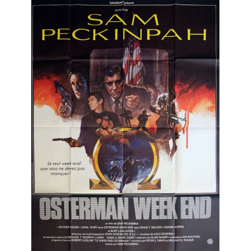 OSTERMAN WEEKEND Movie Poster 47x63 in. - 1983 - Sam Peckinpah, Rutger Hauer