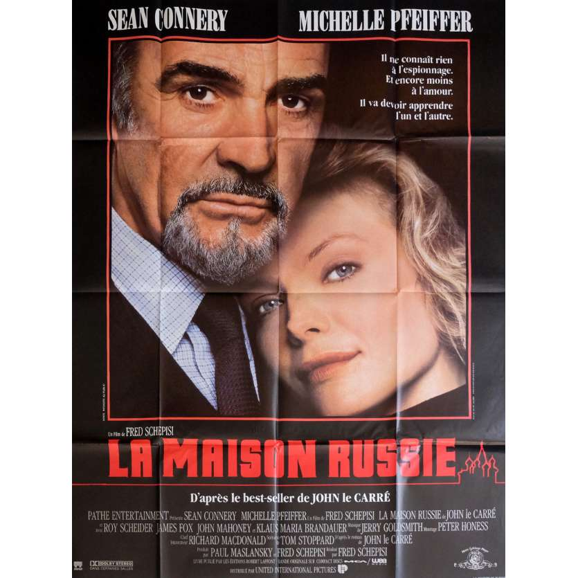 THE RUSSIA HOUSE Movie Poster 47x63 in. - 1990 - Sean Connery, Michelle Pfeiffer