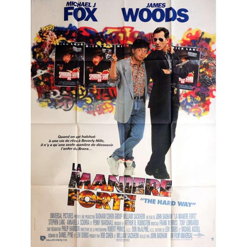 THE HARD WAY Movie Poster 47x63 in. - 1991 - John Badham, Michael J. Fox