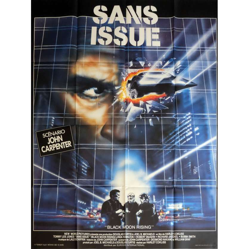 SANS ISSUE Affiche de film 120x160 cm - 1986 - Tommy Lee Jones, John Carpenter