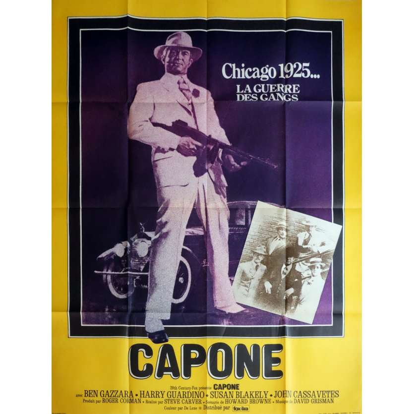 CAPONE Movie Poster 47x63 in. - 1975 - Steve Carver, Ben Gazzara
