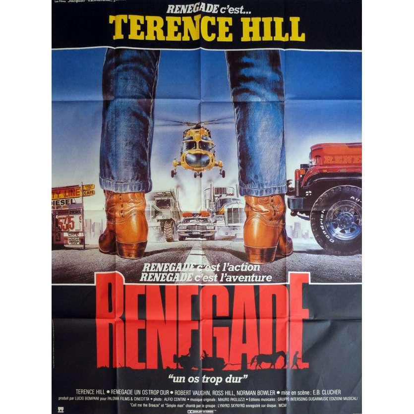 RENEGADE Affiche de film 120x160 cm - 1987 - Terence Hill, Enzo Barboni