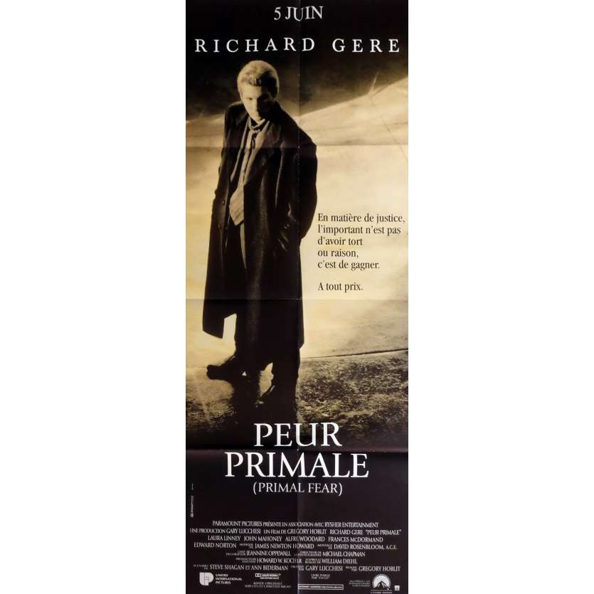 PRIMAL FEAR Movie Poster 23x63 in. - 1996 - Gregory Hoblit, Richard Gere