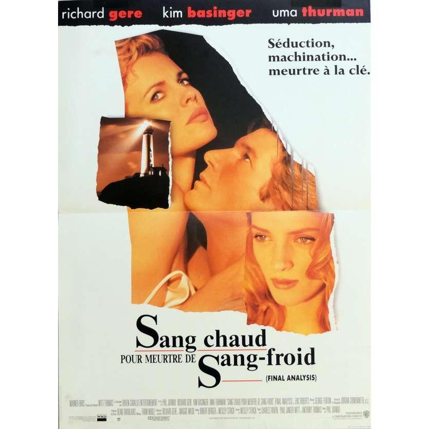 SANG CHAUD POUR MEURTRE DE SANG FROID Affiche de film 40x60 cm - 1992 - Uma Thurman, Richard Gere
