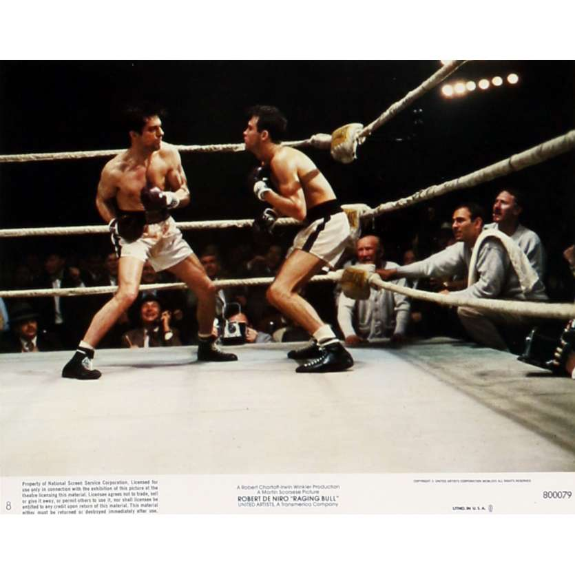 RAGING BULL Lobby Card N08 8x10 in. - 1980 - Martin Scorsese, Robert de Niro
