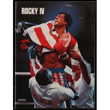 ROCKY 4 Programme 20p 21x30 cm - 1985 - Dolph Lundgren, Sylvester Stallone