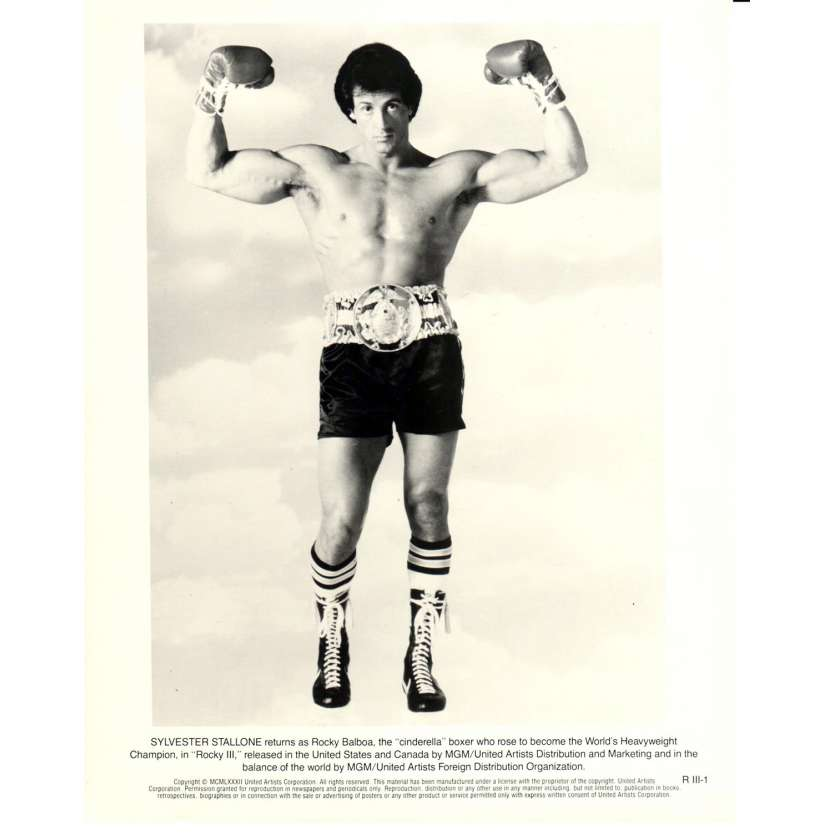 ROCKY 3 Photo de presse N08 20x25 cm - 1982 - Mr. T, Sylvester Stallone