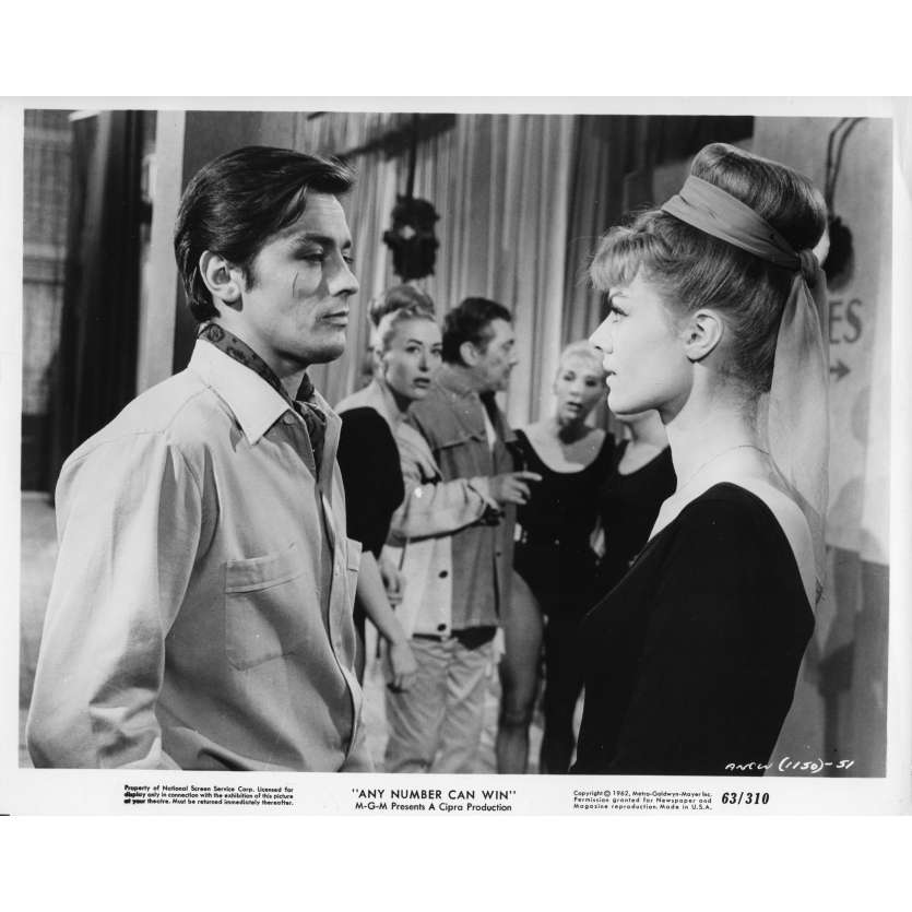 ANY NUMBER CAN WIN Movie Still N01 8x10 in. - 1963 - Henri Verneuil, Alain Delon, Jean Gabin