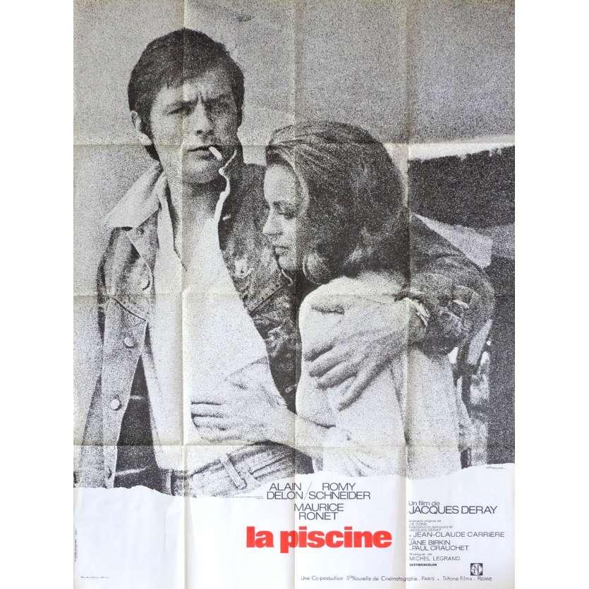 LA PISCINE Affiche de film 120x160 cm - 1974 - Alain Delon, Romy Schneider, Jacques Deray