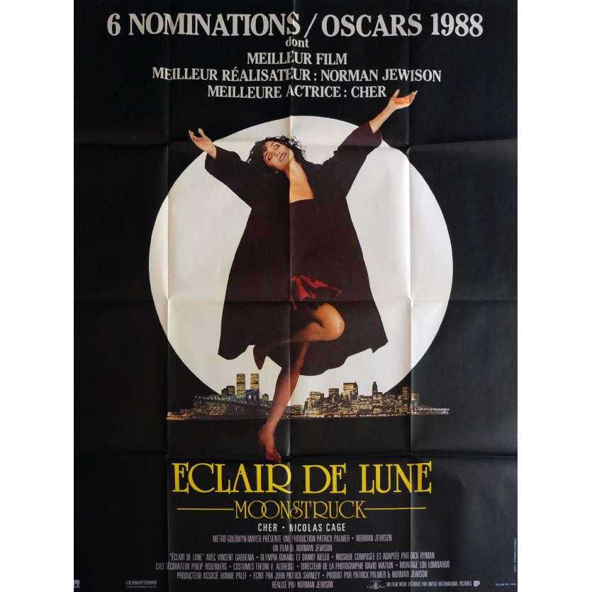 ECLAIR DE LUNE Affiche de film 120x160 cm - 1987 - Cher, Norman Jewison