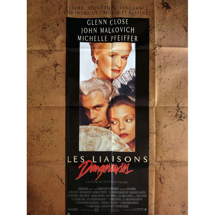 DANGEROUS LIAISONS Movie Poster 47x63 in. - 1988 - Stephen Frears, Glen Close