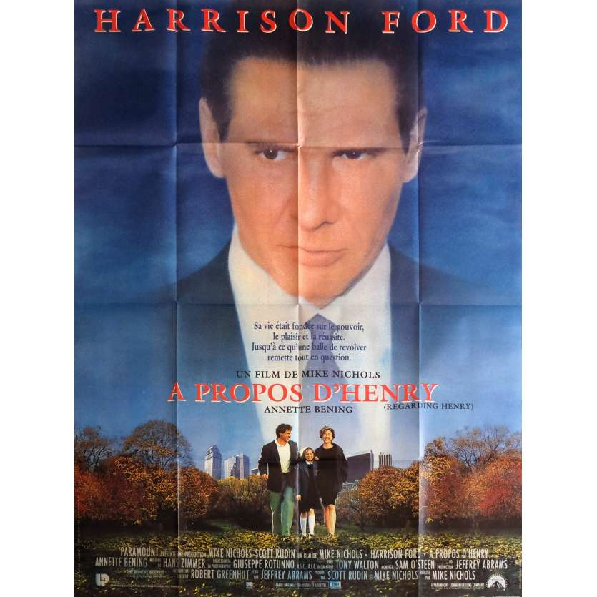 REGARDING HENRY Movie Poster 47x63 in. - 1991 - Mike Nichols, Harrison Ford
