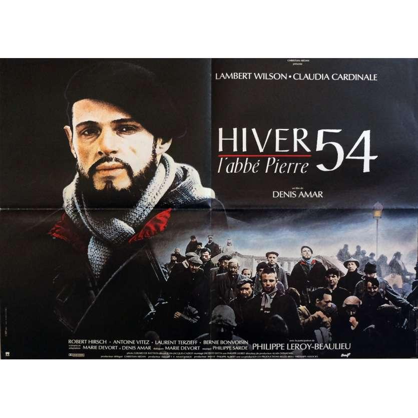 HIVER 54 Affiche de film 60x80 cm - 1989 - lambert Wilson, abbé pierre