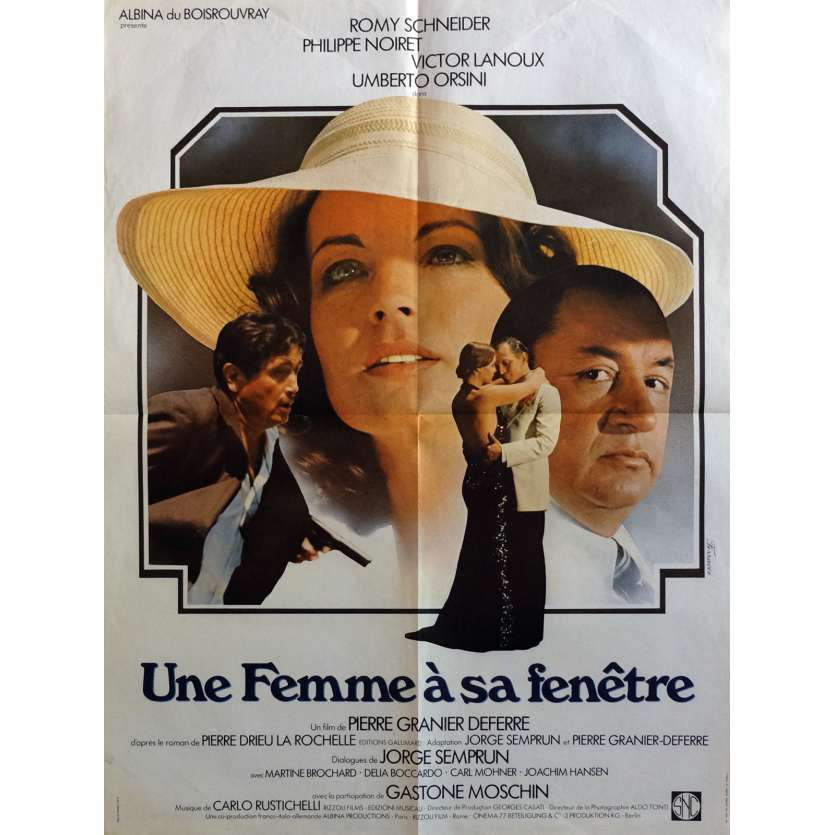 A WOMAN AT HER WINDOW Movie Poster 23x32 in. - 1976 - Pierre Granier-Deferre, Romy Schneider