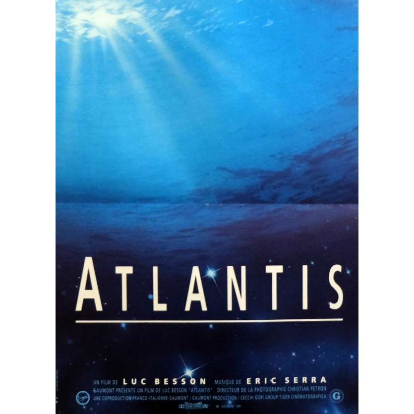 ATLANTIS Movie Poster 15x21 in. - 1991 - Luc Besson, Luc Besson
