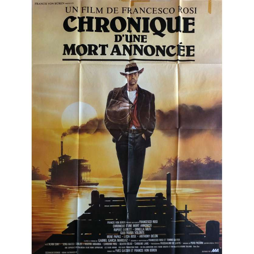 CHRONICLE OF A DEATH FORETOLD Movie Poster 47x63 in. - 1987 - Francesco Rosi, Rupert Everett