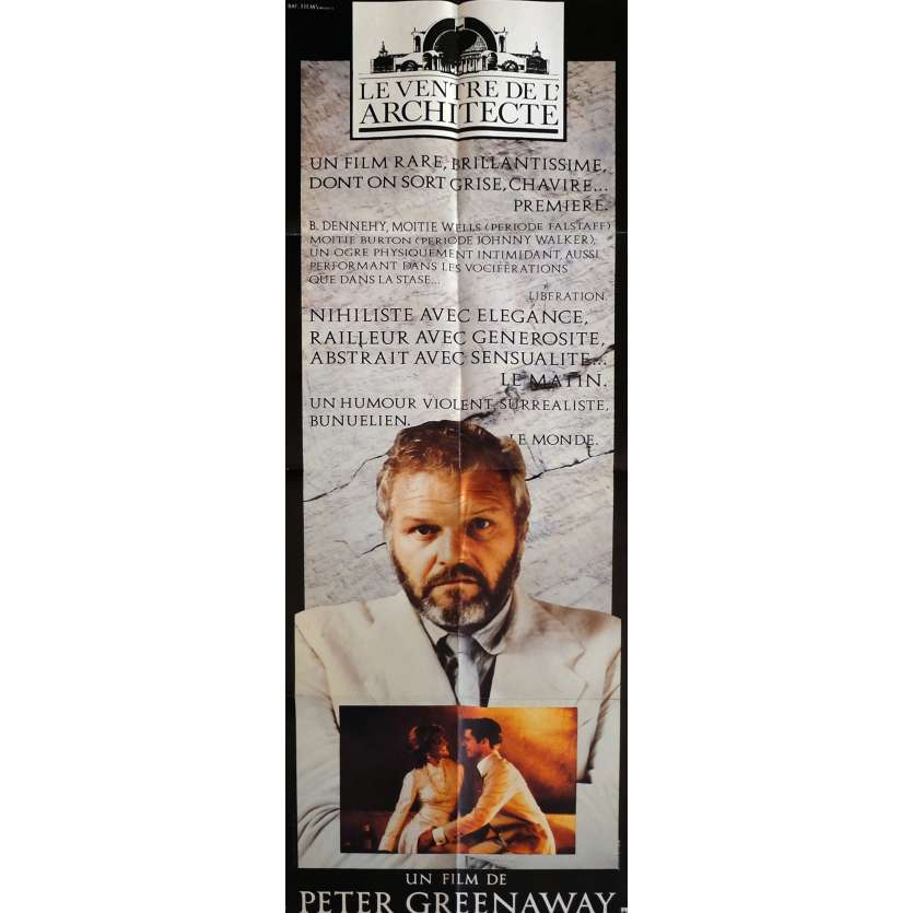 BELLY OF AN ARCHITECT Movie Poster 23x63 in. - 1987 - Peter Greenaway, Brian Dennehy