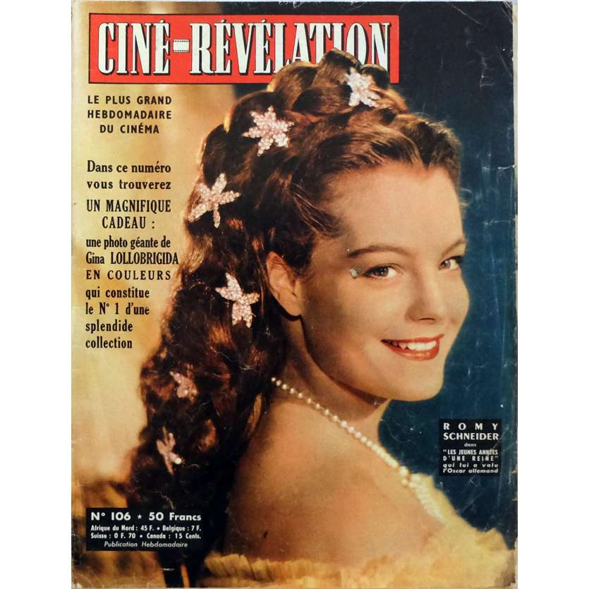 CINE REVELATION - ROMY SCHNEIDER Magazine 9x12 in. - 1960 - with Brigitte Bardot