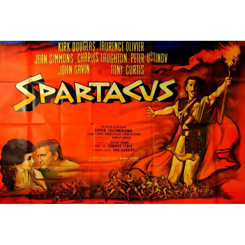 SPARTACUS French Movie Poster 94x63 - 1962 - Stanley Kubrick, Kirk Douglas