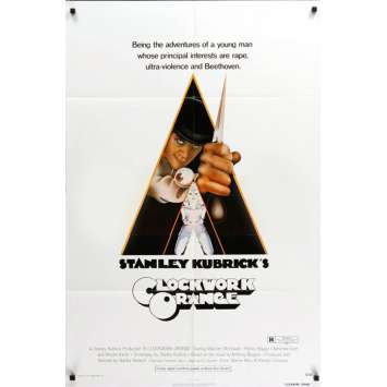 CLOCKWORK ORANGE US Movie Poster 29x41- 1972 - Stanley Kubrick, Malcom Mc Dowell