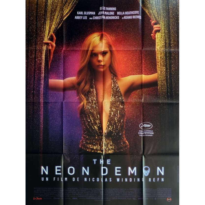 THE NEON DEMON Affiche de film 120x160 cm - 2016 - Elle Fanning, Nicolas Winding Refn