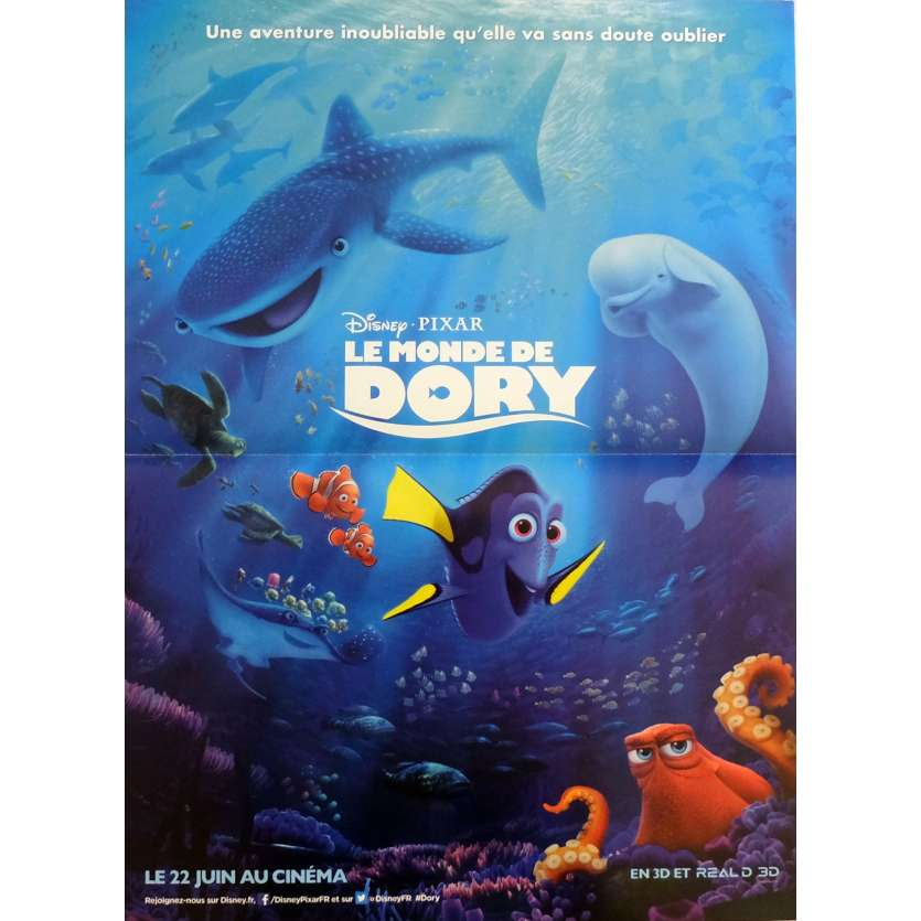 FINDING DORY Movie Poster 15x21 in. - 2016 - Andrew Stanton, Ellen DeGeneres